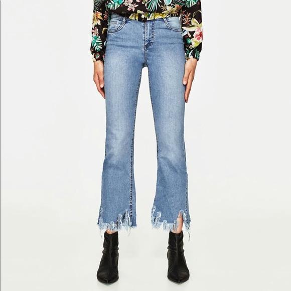 7cc4743d Zara Jeans | Trafaluc Cropped Flare 2 | Poshmark